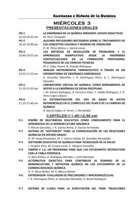 programa de las presentaciones orales y carteles