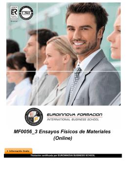 MF0056_3 Ensayos Físicos de Materiales (Online)