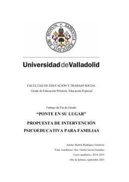 TFG-G 1490 - UVaDOC - Universidad de Valladolid
