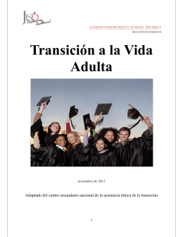 Transición a la Vida Adulta - Judson Independent School District