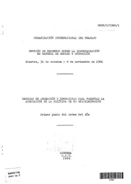 meds/i/1966/1 organización internacional del trabajo reunión de