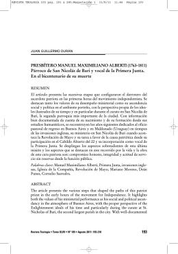 Párroco de San Nicolás de Bari y vocal de la Primera Junta