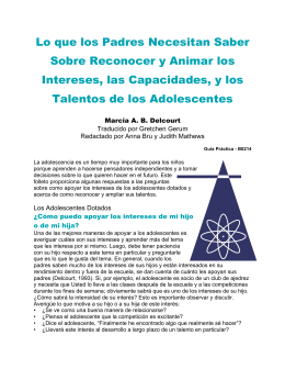 Adolescentes - The National Research Center on the Gifted and