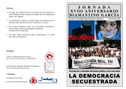la democracia secuestrada - Asociación Pro Derechos Humanos de