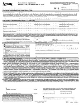 IBO Registration Agreement - US Spanish LSS622Z