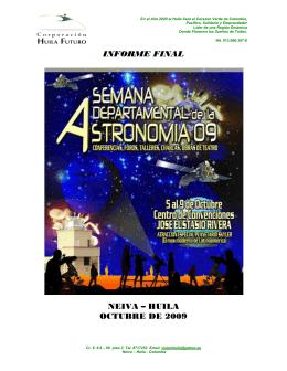 Informe I Semana Departamental de Astronomía