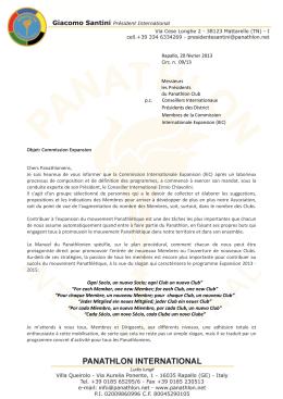 Rapallo, 20 février 2013 Circ. n. 09/13 Messieurs les Présidents du