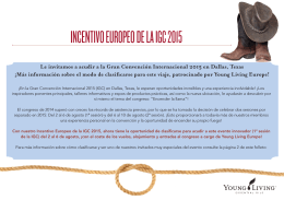 INCENTIVO EUROPEO DE LA IGC 2015