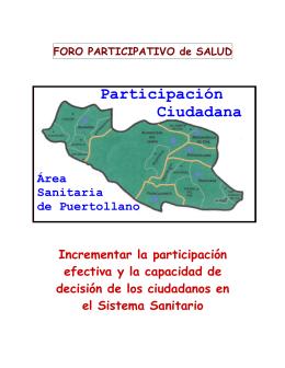 Participación Ciudadana - Area de Salud de Puertollano
