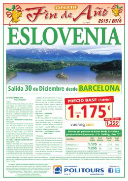 """ESLOVENIA """"Fin de Año"""" Salida 30 de Diciembre o."""