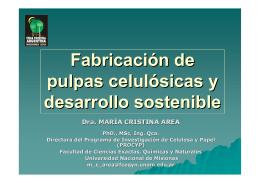 Fabricación de pulpas celulósicas y desarrollo sostenible