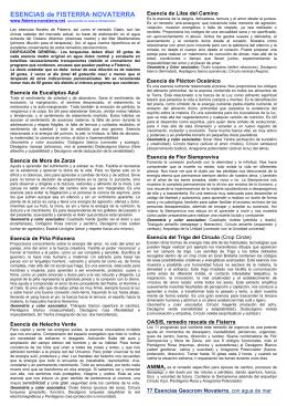 folleto detallado de las esencias