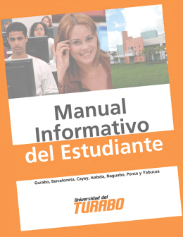 Manual del estudiante - Sistema Universitario Ana G. Méndez