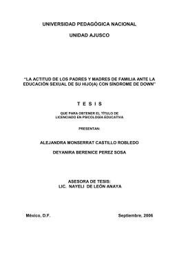 con síndrome de Down - Biblioteca Gregorio Torres Quintero