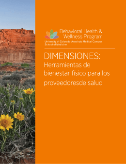 Herramientas de bienestar físico - Behavioral Health and Wellness