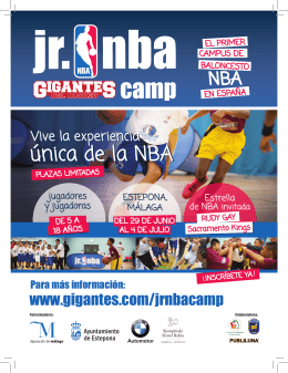 folleto del JR NBA Camp