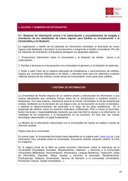 Sistema de Información - Universidad de Huelva