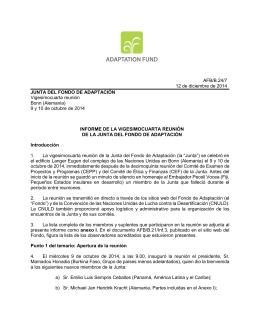AFB/B.24/7 12 de diciembre de 2014 JUNTA DEL FONDO DE