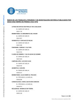 Índice de los trabajos publicados por Diego Díaz Hierro en prensa
