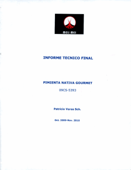 informe tecnico final pimienta nativa gourmet - Repositorio