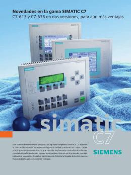 Novedades en la gama SIMATIC C7 C7-613 y C7-635 en