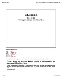 Informe de Prensa