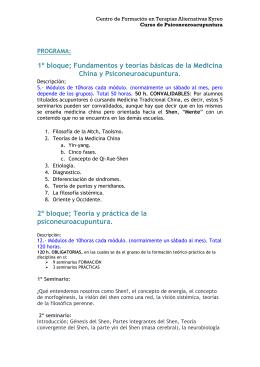 FORMACIÓN 2009 - Terapias Alternativas