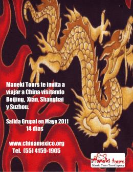 Maneki Tours te invita a viajar a China visitando Beijing