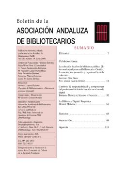 Boletín 79 - Asociación Andaluza de Bibliotecarios