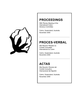 proceedings proces-verbal actas - ICAC. International Cotton