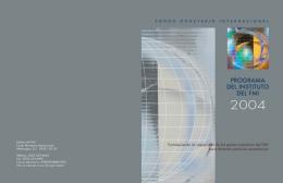 Programa del Instituto del FMI 2004 -- Abril de 2003