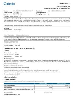CARTESIO Y, FI 1. Política de inversión y divisa de denominación 2