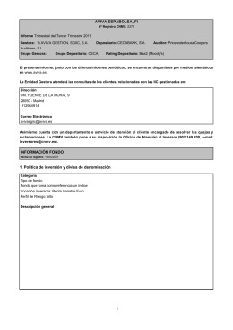 AVIVA ESPABOLSA, FI INFORMACIÓN FONDO 1. Política