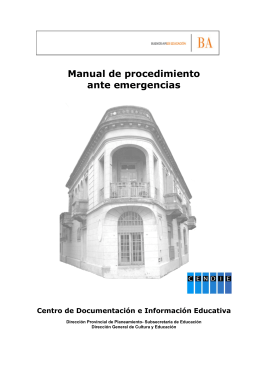 Manual de procedimiento ante emergencias