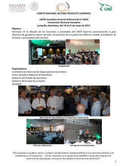 LXXVII Asamblea General Ordinaria de la CNOG. Convención