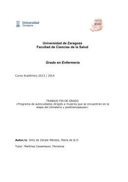 Memoria (spa) - Universidad de Zaragoza