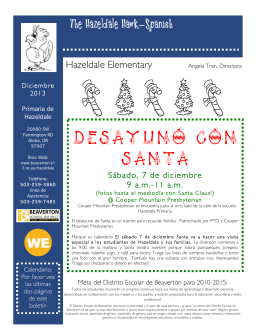 Desayuno con Santa - Beaverton School District