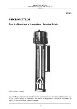 psicrómetros - R.Fuess - Dr.A.Müller