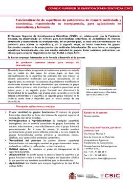 Funcionalización de superficies de poliestireno de - ictp