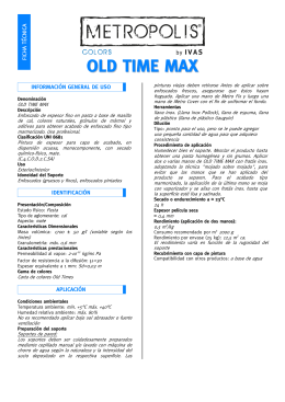 Ficha técnica OLD TIME MAX