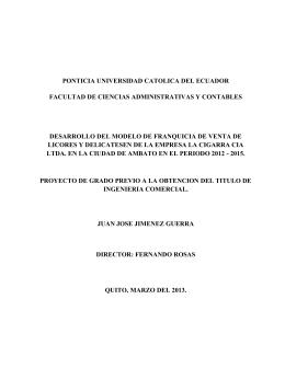 ponticia universidad catolica del ecuador facultad de ciencias