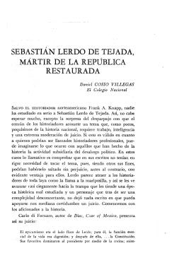 sebastián lerdo de tejada, mártir de la república restaurada