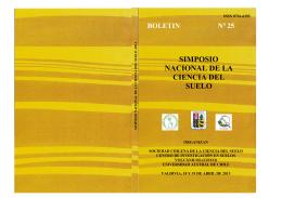 boletin nº 25 simposio nacional de la ciencia del suelo