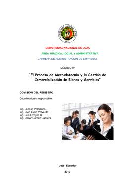 """""""El Proceso de Mercadotecnia y la Gestión de"""