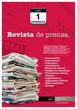 Revista de Prensa - Colegio Oficial de Aparejadores y Arquitectos