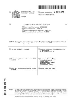 composicion farmaceutica que contiene 5-morfolino-metil-3