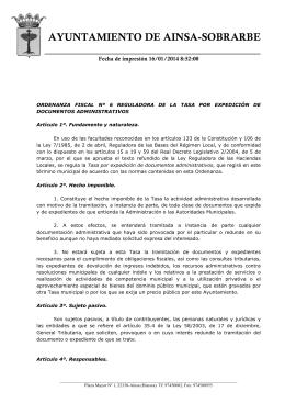 ordenanza fiscal nº 6 reguladora de la tasa por expedición de