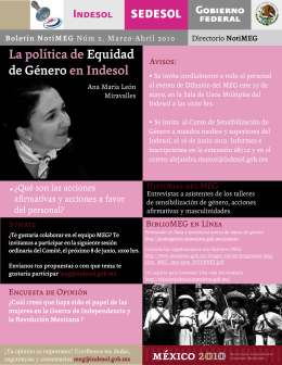 La política de Equidad de Género en Indesol