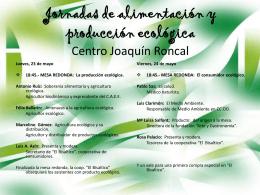 Programa de la Jornada - Centro Joaquín Roncal