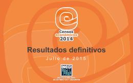 Presentación. Resultados definitivos. Censos Económicos